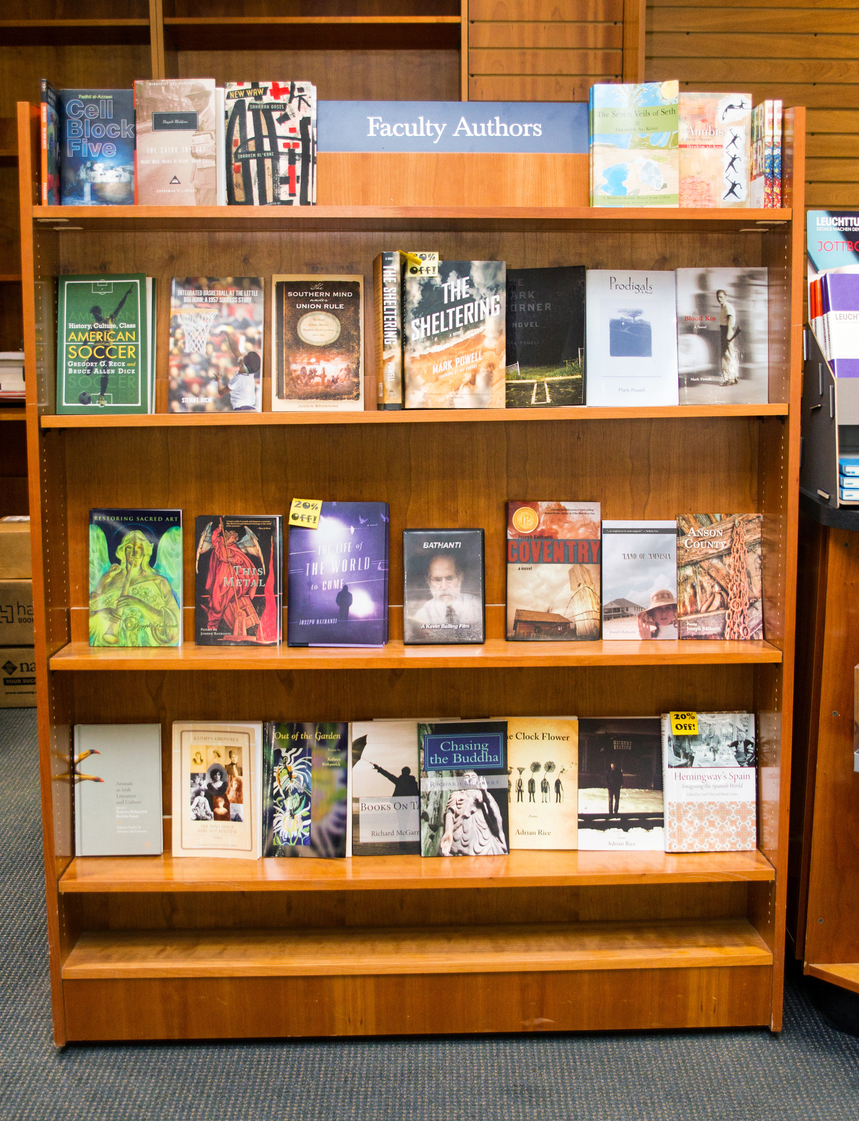 On The Bookshelf Office Of Chancellor Appalachian State