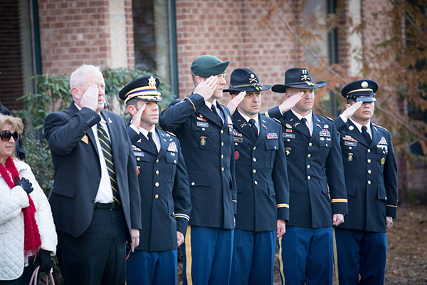 Appalachian honors veterans, 1988 alumnus Col. Ralph L. 'Bo' Clayton III speaks